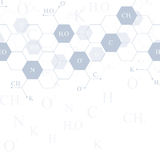 Genetiska sexhörningar Modernt strukturmolekylDNA Atom Molekyl och kommunikationsbakgrund för medicin, vetenskap royaltyfri illustrationer