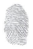 Genetiskt bokstavsfingeravtryck stock illustrationer