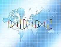 genetyczny świat royalty ilustracja