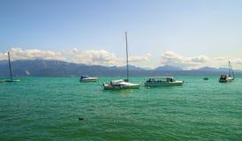 Geneva湖在洛桑,瑞士 免版税库存照片