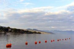 Geneva湖,洛桑,瑞士 图库摄影