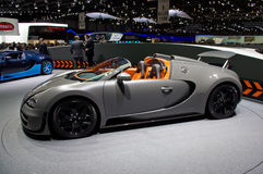 Geneva 2012 - Bugatti Veyron 16.4. Luxury new car at Geneva 2012 Motor Show. Bugatti Veyron 16.4 Stock Images