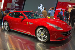 Geneva 81st International Motor Show. GENEVA - MARCH 8: The brand new Ferrari FF on display at the 81st International Motor Show Palexpo-Geneva on March 8; 2011 Royalty Free Stock Photography