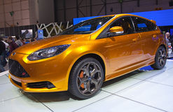 Geneva 81st International Motor Show. GENEVA - MARCH 8: The Ford Focus ST concept car on display at the 81st International Motor Show Palexpo-Geneva on March 8 Stock Image
