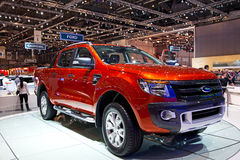 Geneva 81st International Motor Show. GENEVA - MARCH 8: The Ford Ranger on display at the 81st International Motor Show Palexpo-Geneva on March 8; 2011  in Stock Photography