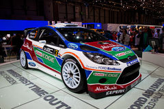 Geneva 81st International Motor Show. GENEVA - MARCH 8: The Ford Fiesta WRC on display at the 81st International Motor Show Palexpo-Geneva on March 8; 2011  in Stock Images