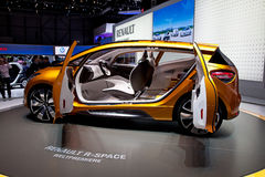 Geneva 81st International Motor Show. GENEVA - MARCH 8: The Renault Captur concept car on display at the 81st International Motor Show Palexpo-Geneva on March 8 Stock Image