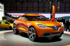 Geneva 81st International Motor Show. GENEVA - MARCH 8: The Renault Captur concept car on display at the 81st International Motor Show Palexpo-Geneva on March 8 Royalty Free Stock Photography