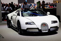 Geneva 81st International Motor Show. GENEVA - MARCH 8: The Bugatti GT on display at the 81st International Motor Show Palexpo-Geneva on March 8; 2011  in Geneva Stock Image