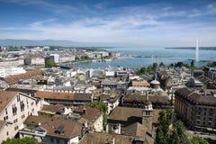 Geneva from above Stock Photos