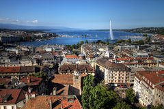 Geneva aerial, Switzerland Royalty Free Stock Photo