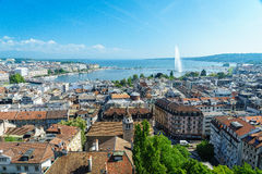 Free Geneva Aerial, Switzerland Royalty Free Stock Photo - 42760945