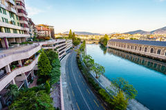 Geneva aerial, Switzerland. Stock Photography