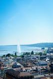 Geneva aerial, Switzerland Royalty Free Stock Photography