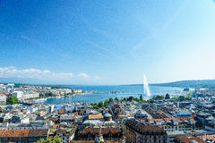 Geneva aerial, Switzerland Stock Image