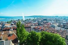 Geneva aerial, Switzerland Royalty Free Stock Images