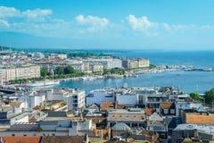 Geneva aerial, Switzerland Stock Images