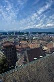 Geneva aerial view Royalty Free Stock Images
