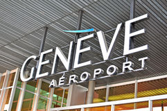 Geneva airport logo Stock Photography