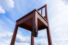 Geneva broken chair in front of the united nation building Stock Image