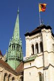 St. Pierre Cathedral. The St. Pierre Cathedral in Geneva, Switzerland Stock Image