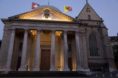 Geneva Cathedral Church; Switzerland Stock Photography