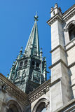 Geneva cathedral Saint Pierre Stock Photo