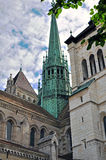 Geneva cathedral Stock Photography