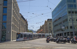 Geneva center - street view Royalty Free Stock Photos