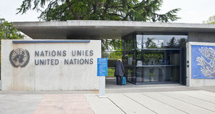 Geneva. Checkpoint United Nations Stock Images