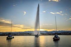 The Geneva city Royalty Free Stock Photos