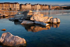 Geneva Cityscape. With Lake Geneva in view Royalty Free Stock Image