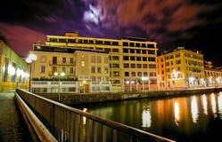 Geneva Cityscape - Building. Geneva cityscape and buildings at dawn in HDR Stock Image