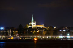 Geneva cityscape overview with St Pierre Cathedral Royalty Free Stock Image