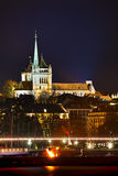 Geneva cityscape overview with St Pierre Cathedral Royalty Free Stock Photography
