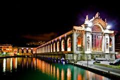 Geneva Cultural Centre. Batiment des Forces Motrices, Geneva cultural centre at dawn Stock Photo