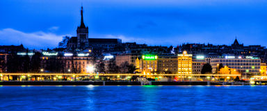 Geneva Dawn Cityscape Royalty Free Stock Photos