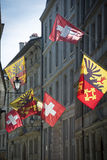 Geneva flags Royalty Free Stock Photos