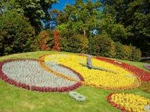 Geneva Flower Clock. Famous Flower Clock in Geneva, Switzerland Stock Image