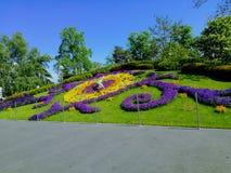 Geneva flower clock stock images