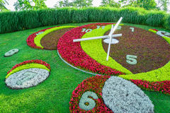 Geneva Flower Clock. Flower clock in jardin Anglais, Geneva, Switzerland Stock Images