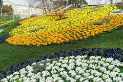 Geneva Flower Clock Stock Photo