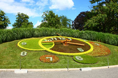Geneva Flower Clock. In the nice day Stock Photo