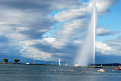 Geneva and Jet d'Eau Royalty Free Stock Photo