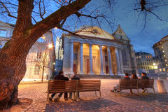 geneva katedralny st Pierre Switzerland zdjęcie royalty free