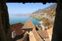 geneva lake Arkivfoto
