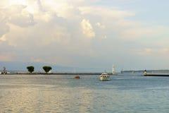 geneva lake Arkivbilder