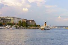 geneva lake Royaltyfria Foton