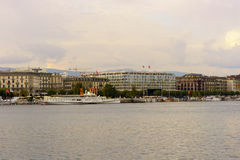 geneva lake Royaltyfria Bilder