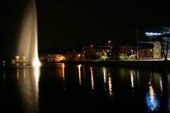 Geneva at night Royalty Free Stock Image